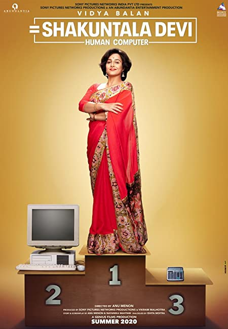 Shakuntala Devi: Human Computer (2020) Hindi Amazon WEB-DL - 480P | 720P | 1080P - x264 - 1GB - Download & Watch Online  Movie Poster - mlsbd
