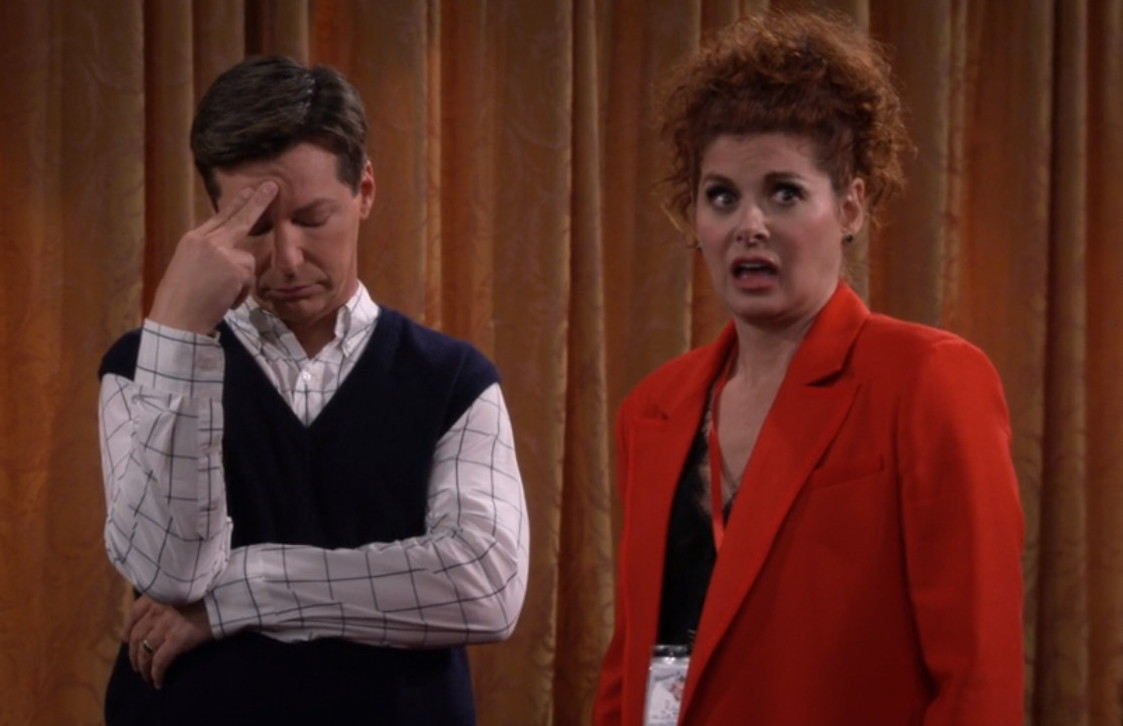 Sean Hayes and Debra Messing in Will & Grace (1998)