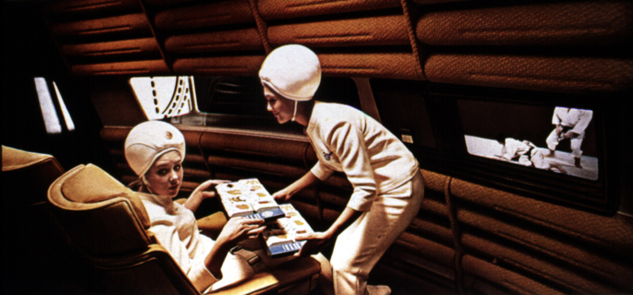 Penny Brahms and Edwina Carroll in 2001: A Space Odyssey (1968)