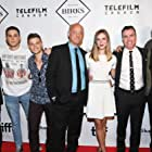 """Darren Mann and cast from """"Hello Destroyer"""" on the red carpet at TIFF"""