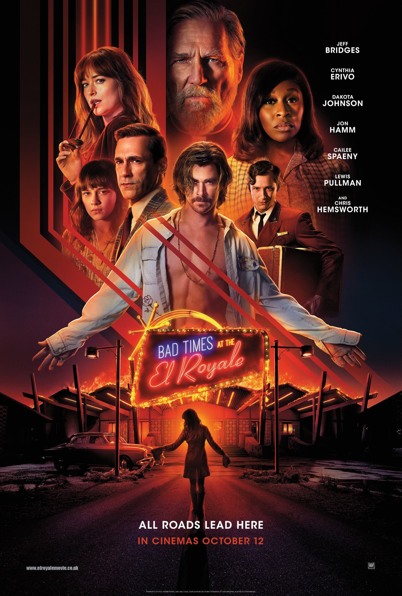 Image result for bad times at the el royale poster