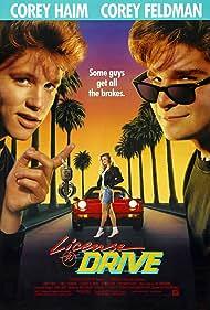 Corey Feldman, Corey Haim, and Heather Graham in License to Drive (1988)