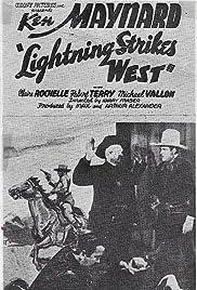 Lightning Strikes West Poster