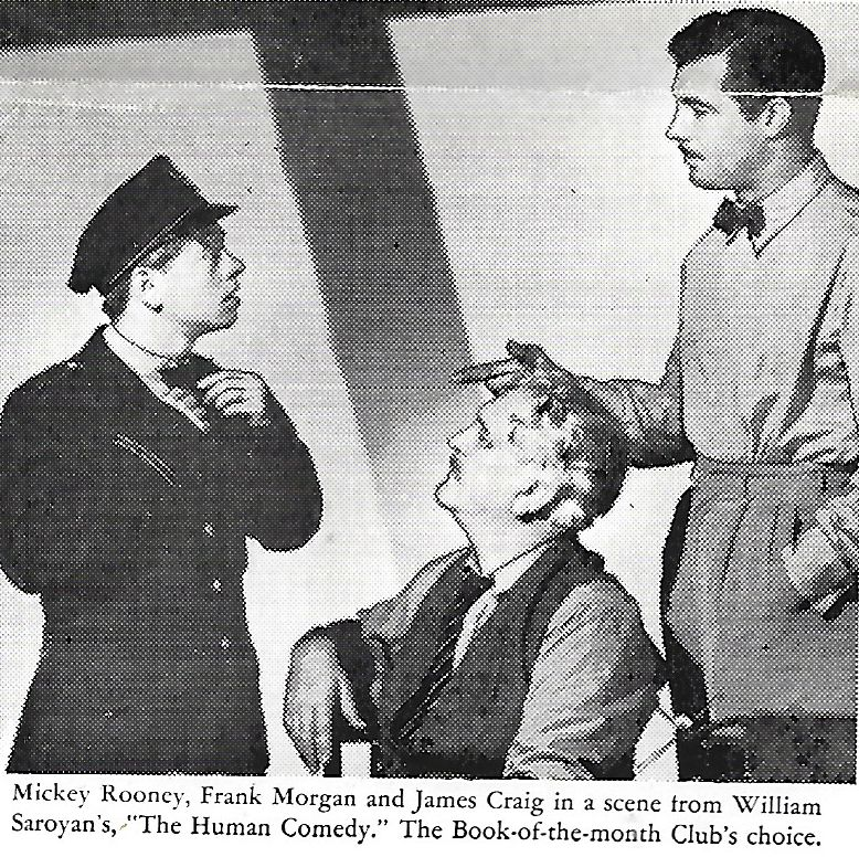 Mickey Rooney, James Craig, and Frank Morgan in The Human Comedy (1943)