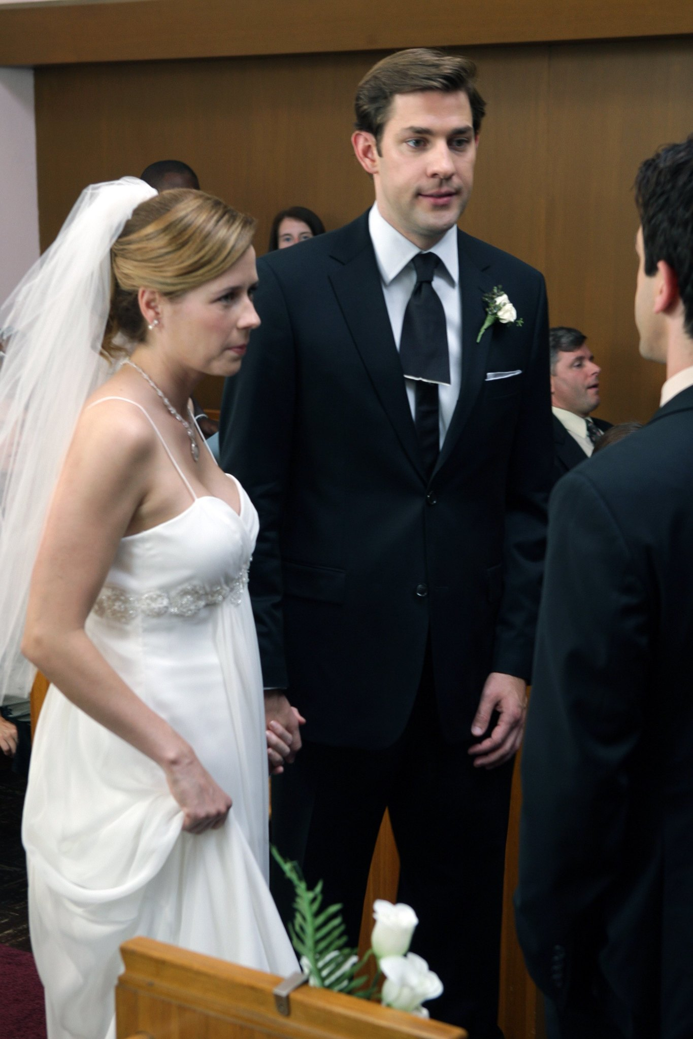 Jenna Fischer, John Krasinski, and B.J. Novak in The Office (2005)
