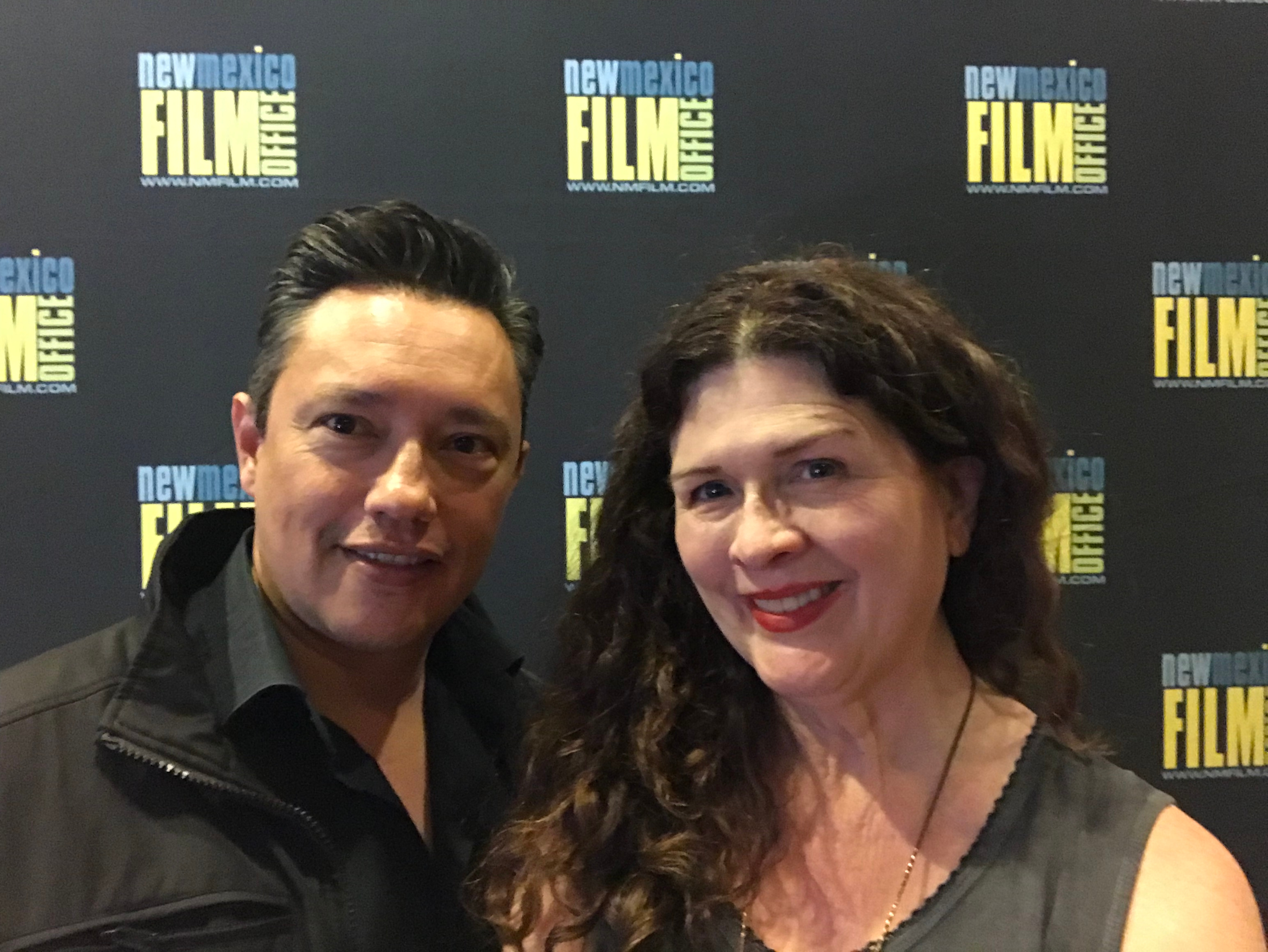 Jennifer H Caldwell and Armando D'Aguero at NM Film Conference