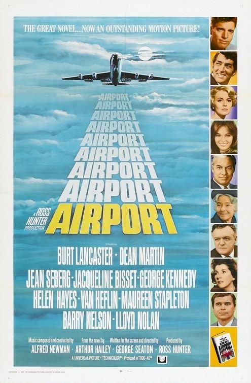Burt Lancaster, Jacqueline Bisset, Van Heflin, George Kennedy, Dean Martin, Helen Hayes, Barry Nelson, Jean Seberg, and Maureen Stapleton in Airport (1970)