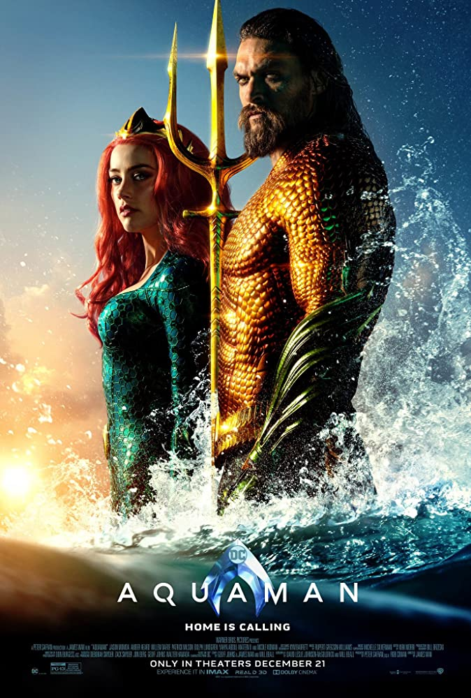 Jason Momoa and Amber Heard in Aquaman (2018)