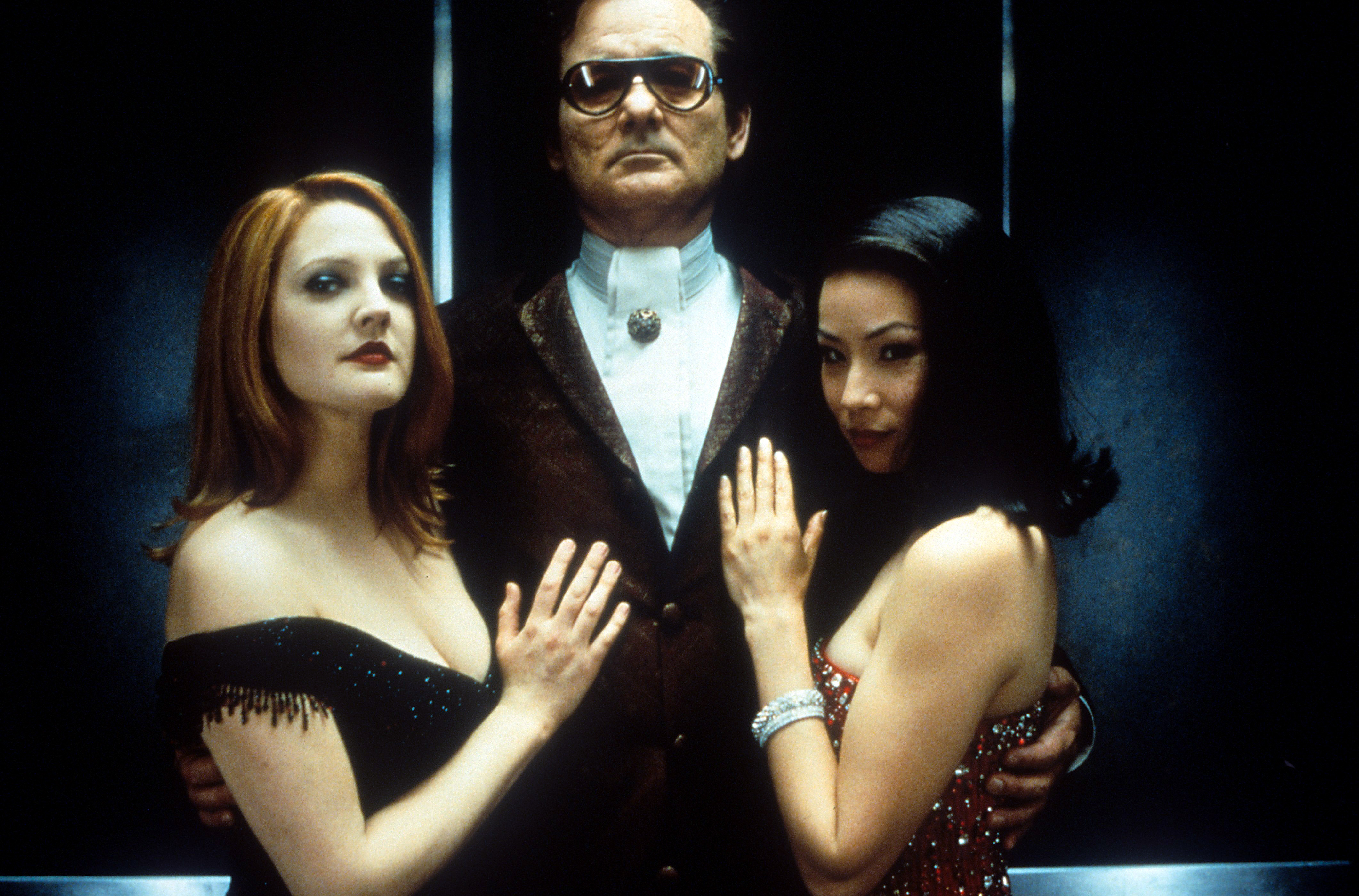Drew Barrymore, Bill Murray, and Lucy Liu in Charlie's Angels (2000)