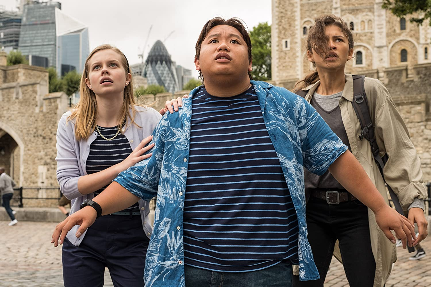 Angourie Rice, Zendaya, and Jacob Batalon in Spider-Man: Far from Home (2019)
