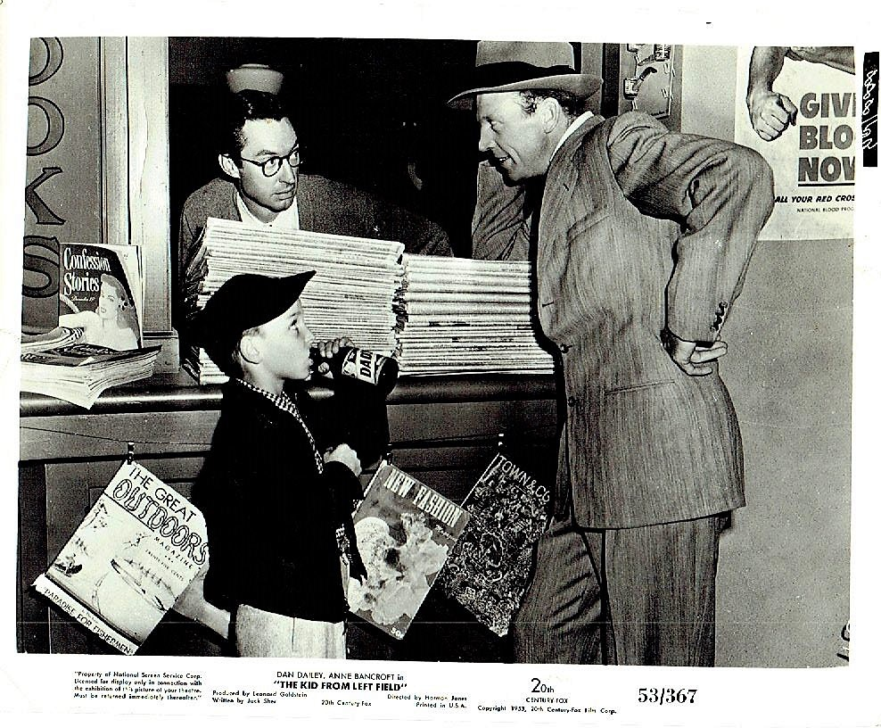 Billy Chapin and Dan Dailey in The Kid from Left Field (1953)