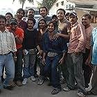 Anurag Kashyap, John Abraham, Shlok Sharma, and Param Kalra in No Smoking (2007)