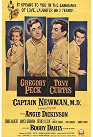 Gregory Peck, Tony Curtis, Angie Dickinson, and Bobby Darin in Captain Newman, M.D. (1963)
