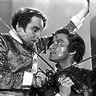 """Errol Flynn and Henry Daniell, """"The Sea Hawk"""" 1940 Warner Bros."""