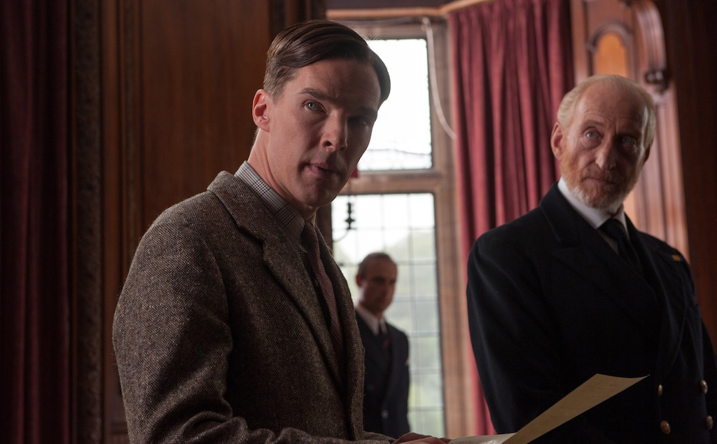 Charles Dance and Benedict Cumberbatch in The Imitation Game (2014)