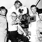 Leonard Nimoy, William Shatner, DeForest Kelley, Gene Roddenberry, and Robert Wise in Star Trek: The Motion Picture (1979)