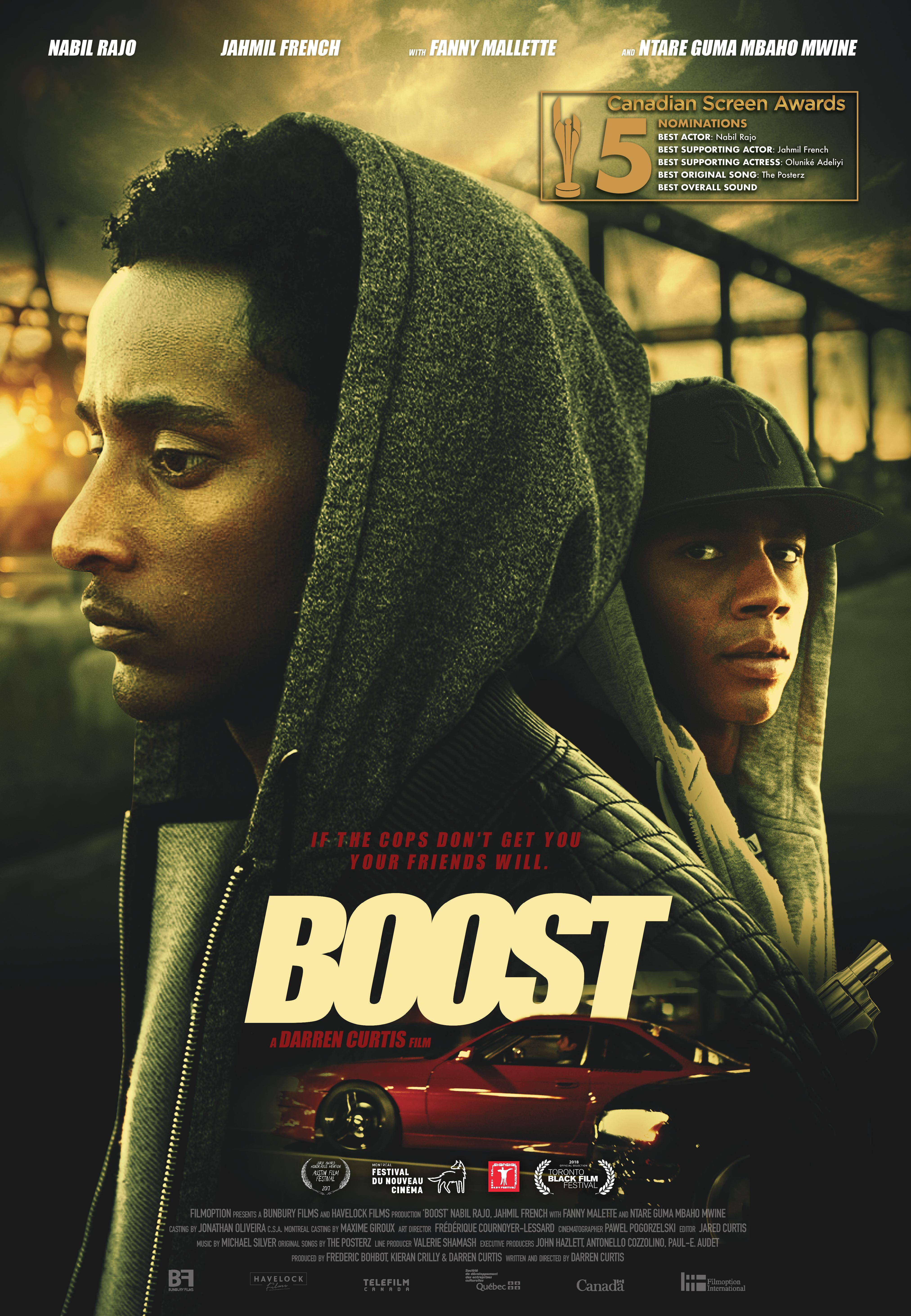 Film Boost Streaming Complet - Hakeem et A-Mac sont comme des frères. Ensemble face à la vie des immigrants à Montréal,...