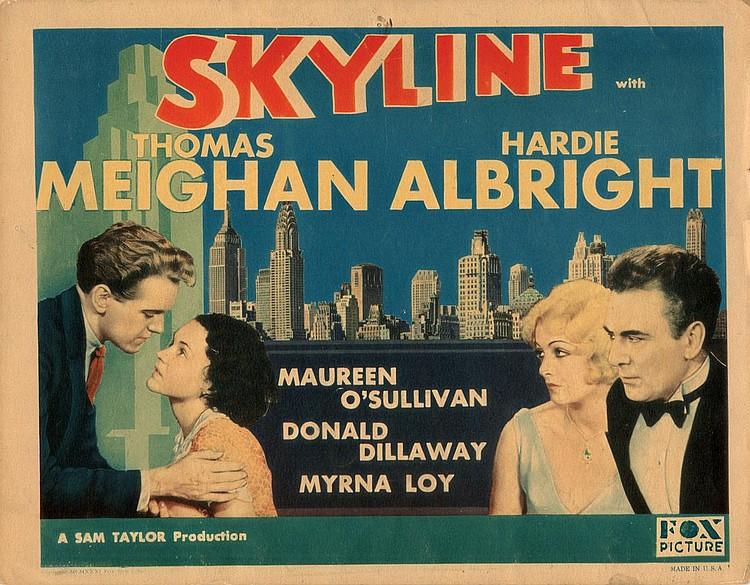 Myrna Loy, Maureen O'Sullivan, Hardie Albright, and Thomas Meighan in Skyline (1931)