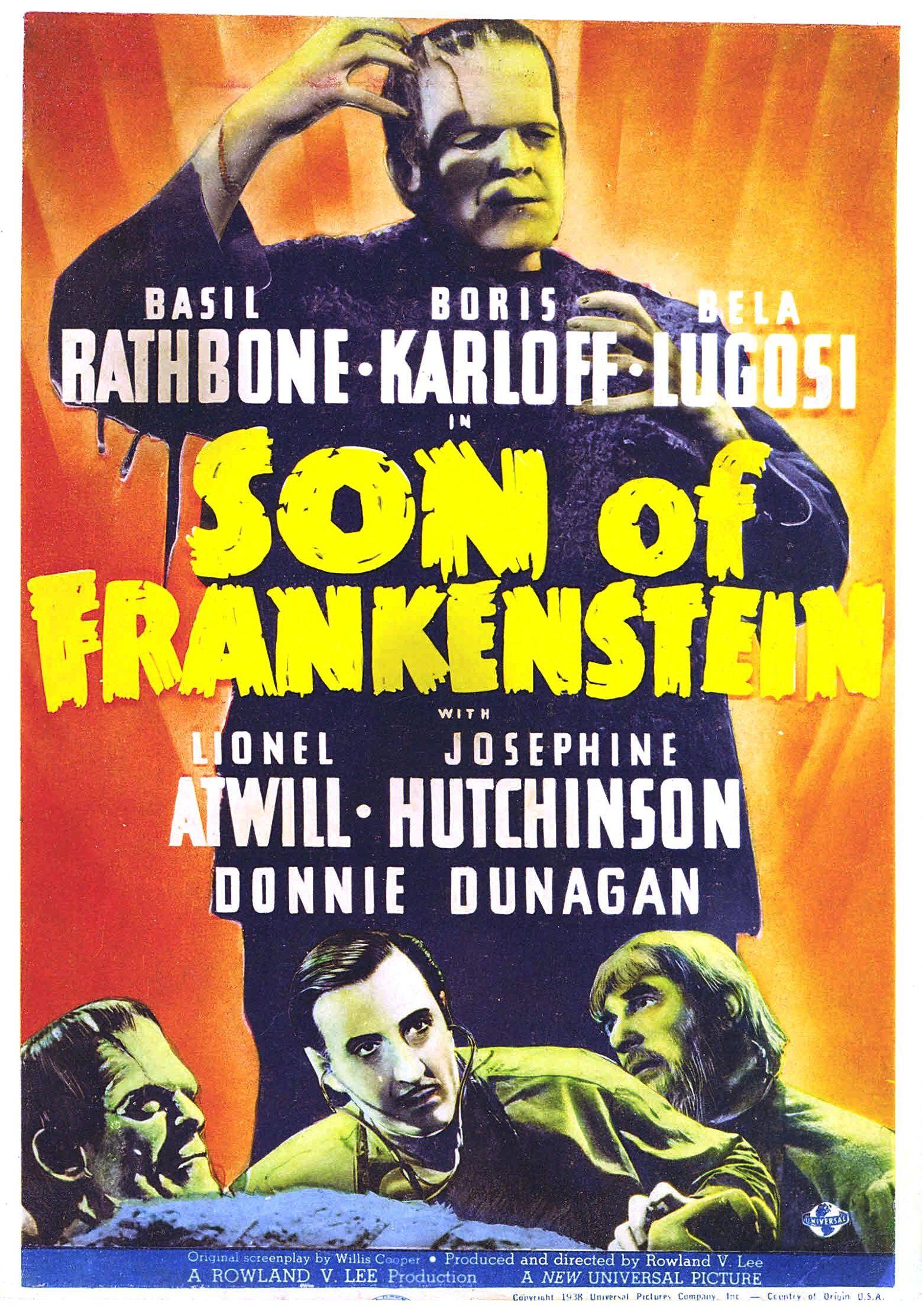 Boris Karloff Horror movie poster print 2 1931 Frankenstein