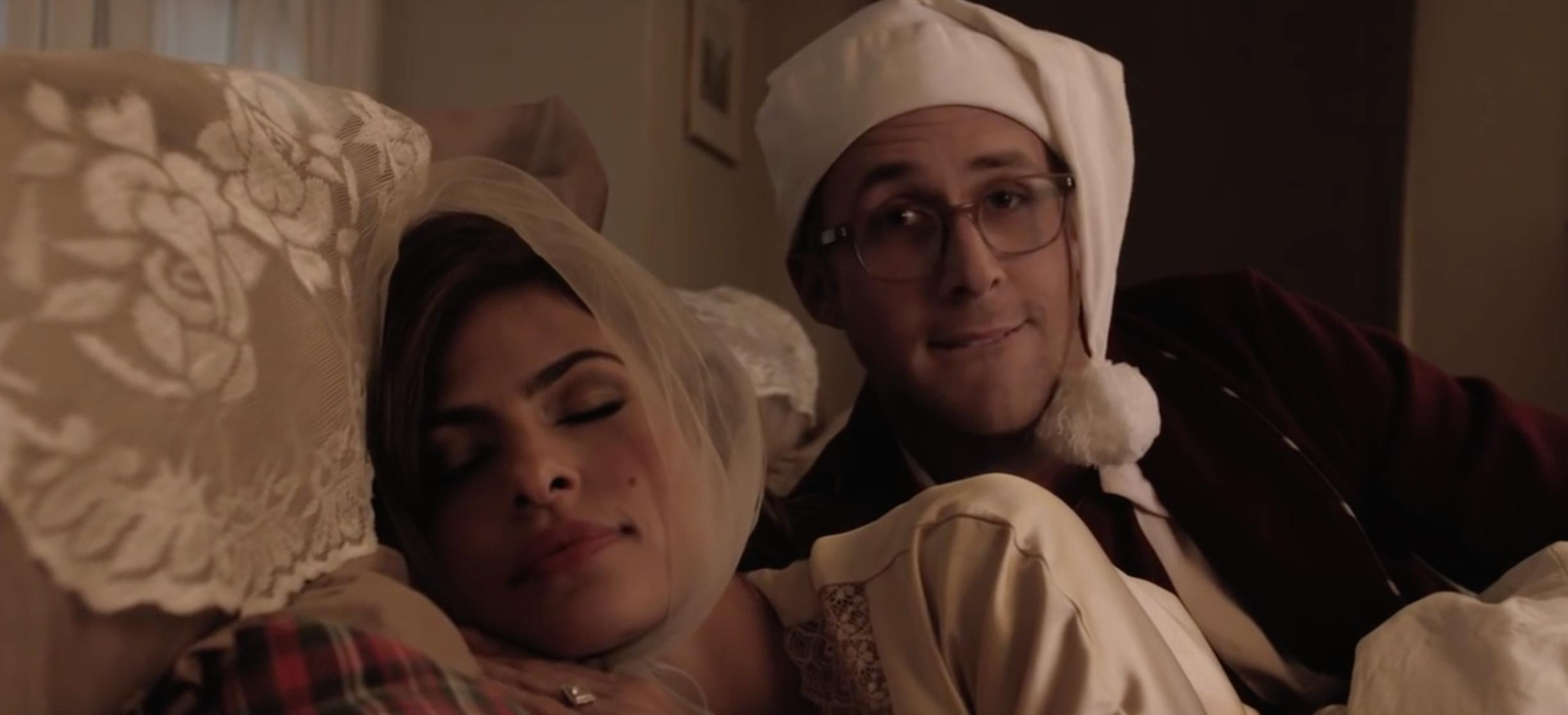 Ryan Gosling and Eva Mendes in Drunk History (2007)