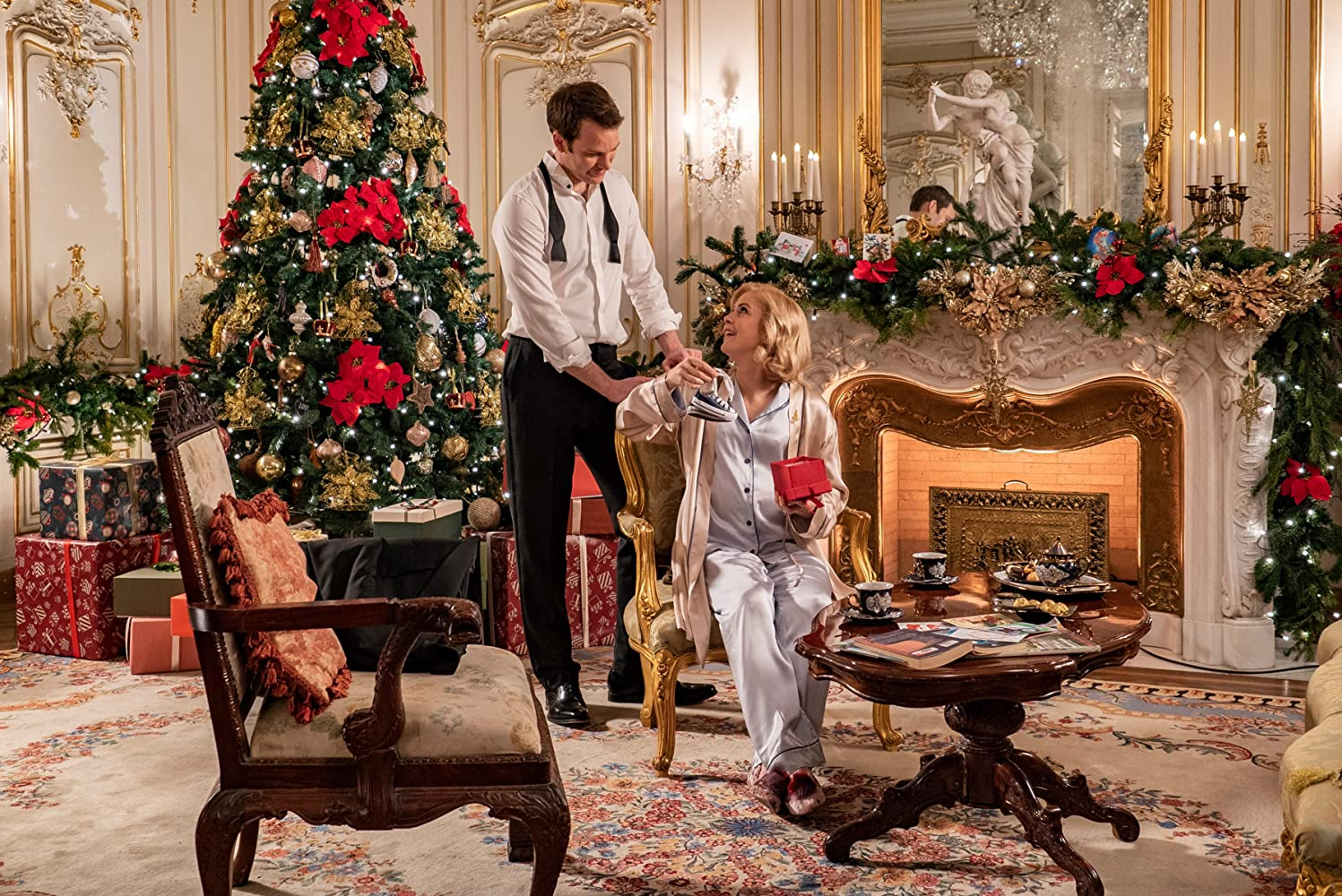 Rose McIver and Ben Lamb in A Christmas Prince: The Royal Baby (2019)