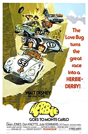 Herbie Goes to Monte Carlo 1977 Movie Poster