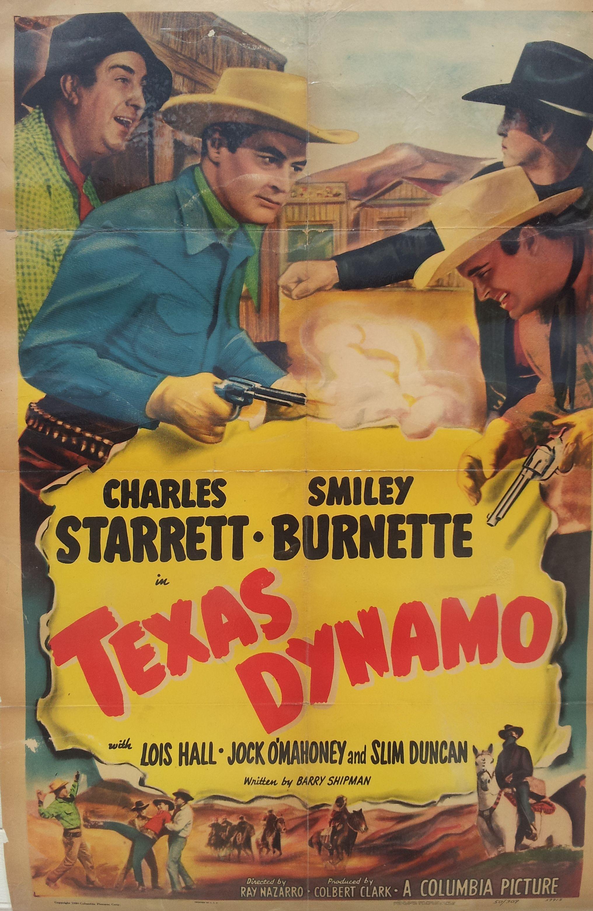 Smiley Burnette, Slim Duncan, Jock Mahoney, and Charles Starrett in Texas Dynamo (1950)