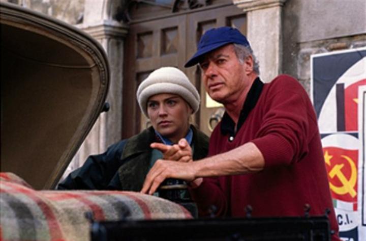 Sharon Stone and John Frankenheimer in Year of the Gun (1991)