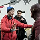 Tom Cavanagh, Grant Gustin, and Grey Damon in The Flash (2014)