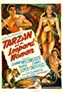 Acquanetta, Johnny Sheffield, and Johnny Weissmuller in Tarzan and the Leopard Woman (1946)