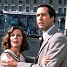 Chevy Chase and Carrie Fisher in Under the Rainbow (1981)