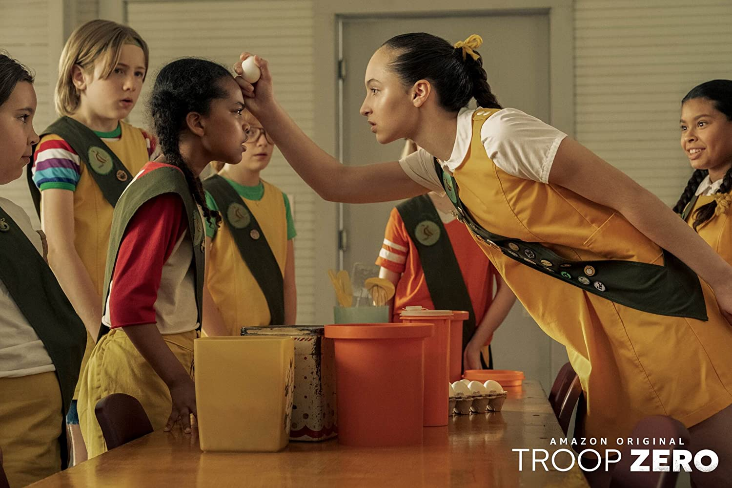 Ashley Brooke, Bella Higginbotham, Charlie Shotwell, Johanna Colón, and Milan Ray in Troop Zero (2019)