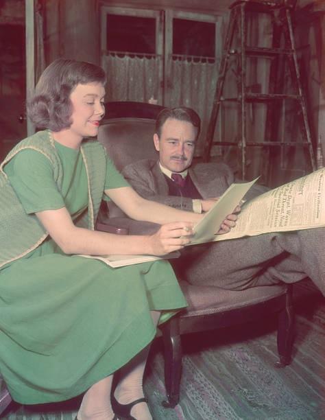 Lew Ayres and Jane Wyman in Johnny Belinda (1948)