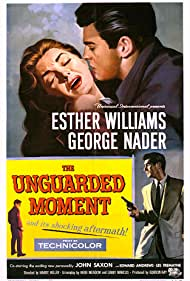George Nader, John Saxon, and Esther Williams in The Unguarded Moment (1956)