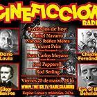Edgar Allan Poe, Darío Lavia, and Chucho Fernández in Cineficción Radio (2019)