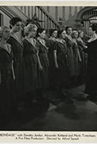 Isabel Jewell, Dorothy Jordan, Mary Kornman, Dorothy Libaire, Gertrude Messinger, Catherine Navarro, Rafaela Ottiano, and Yolanda Petit in Bondage (1933)