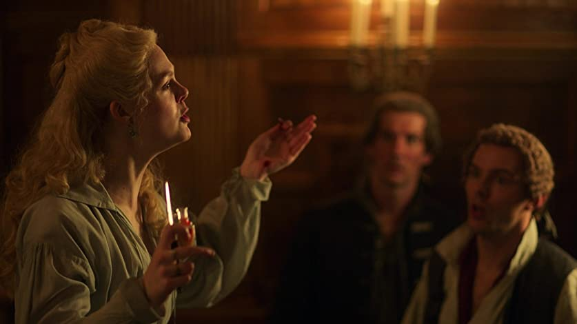 elle fanning plays empress catherine in the hulu series the great