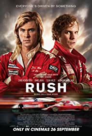 Daniel Brühl and Chris Hemsworth in Rush (2013)