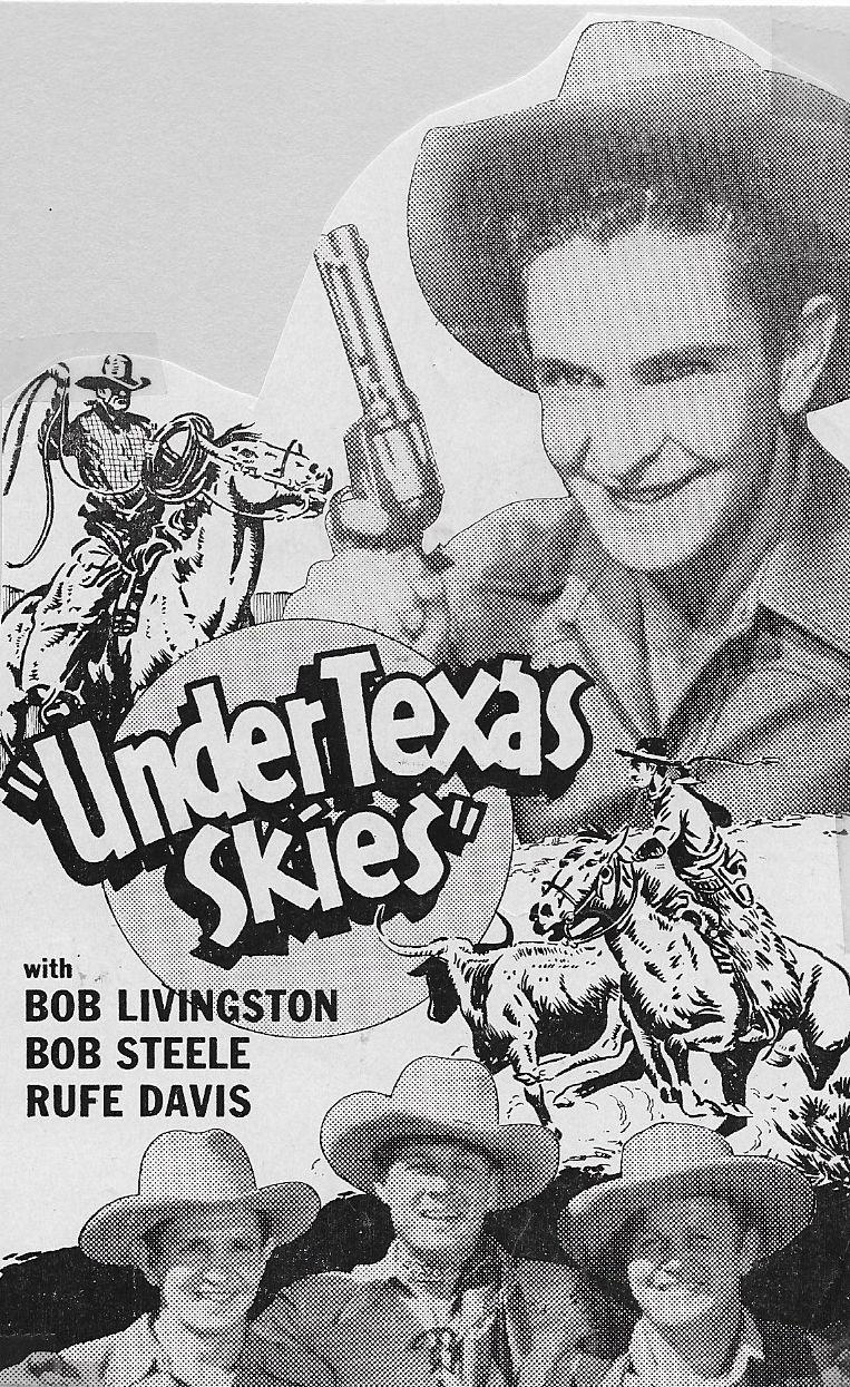 Rufe Davis, Robert Livingston, and Bob Steele in Under Texas Skies (1940)