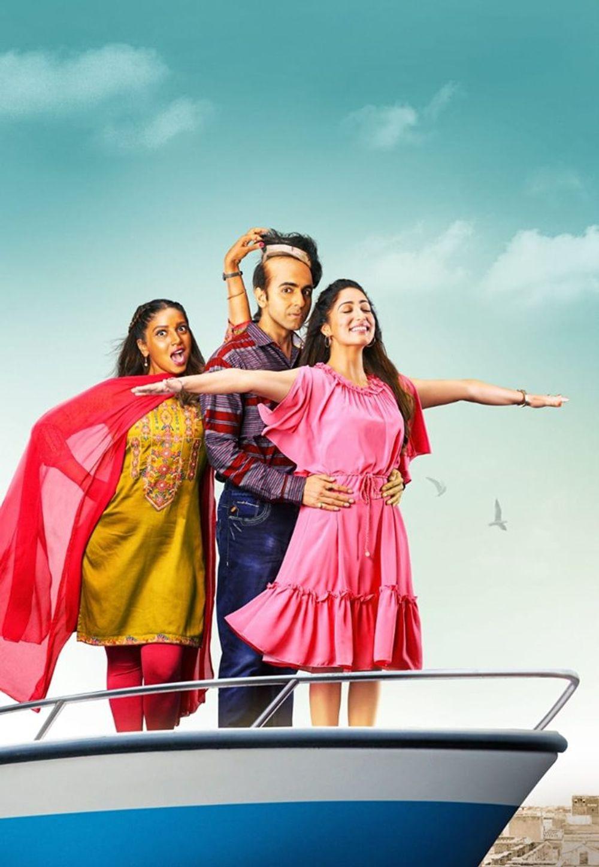 Yami Gautam, Ayushmann Khurrana, and Bhumi Pednekar in Bala (2019)