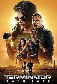 Linda Hamilton, Arnold Schwarzenegger, Natalia Reyes, Gabriel Luna, and Mackenzie Davis in Terminator: Dark Fate (2019)