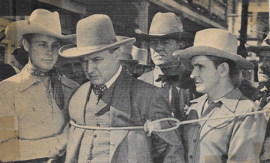 Tom London, Robert Frazer, Robert Livingston, and Bob Steele in Pals of the Pecos (1941)