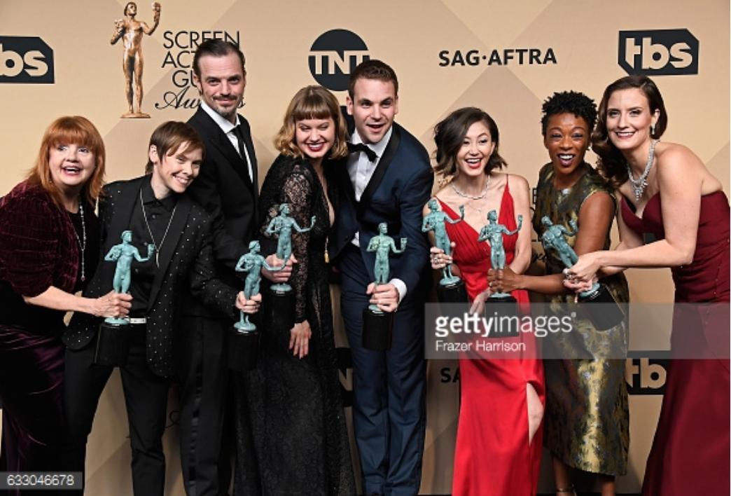 Annie Golden, Abigail Savage, Alan Aisenberg, James McMenamin, Samira Wiley, Emily Althaus, Julie Lake, and Kimiko Glenn in The 23rd Annual Screen Actors Guild Awards (2017)