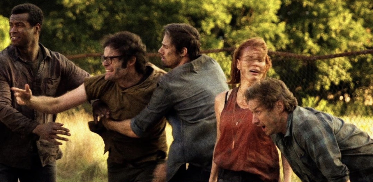 Bill Hader, James McAvoy, Jay Ryan, Jessica Chastain, and Isaiah Mustafa in It Chapter Two (2019)