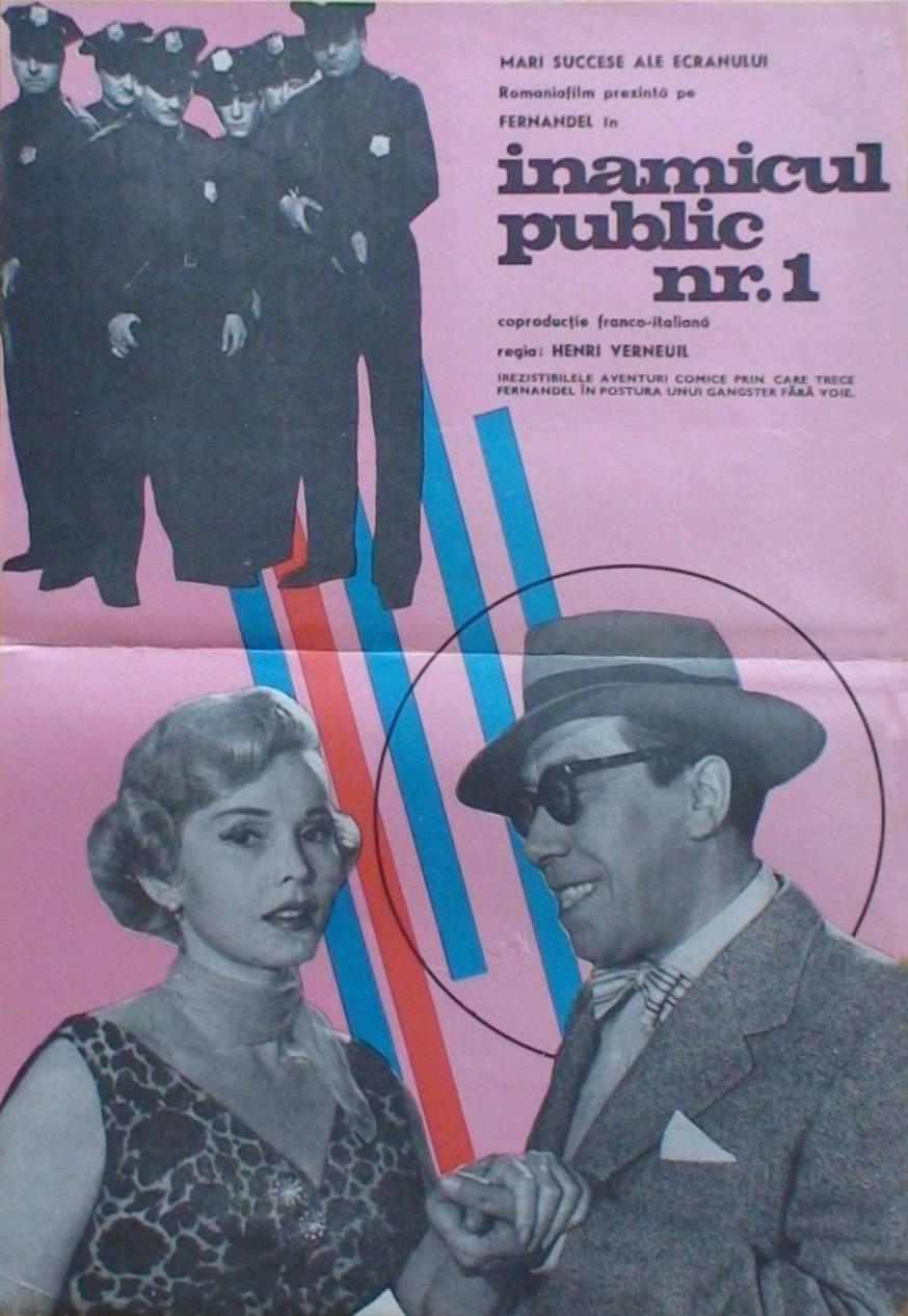 Fernandel, David Opatoshu, and Henri Verneuil in L'ennemi public n° 1 (1953)