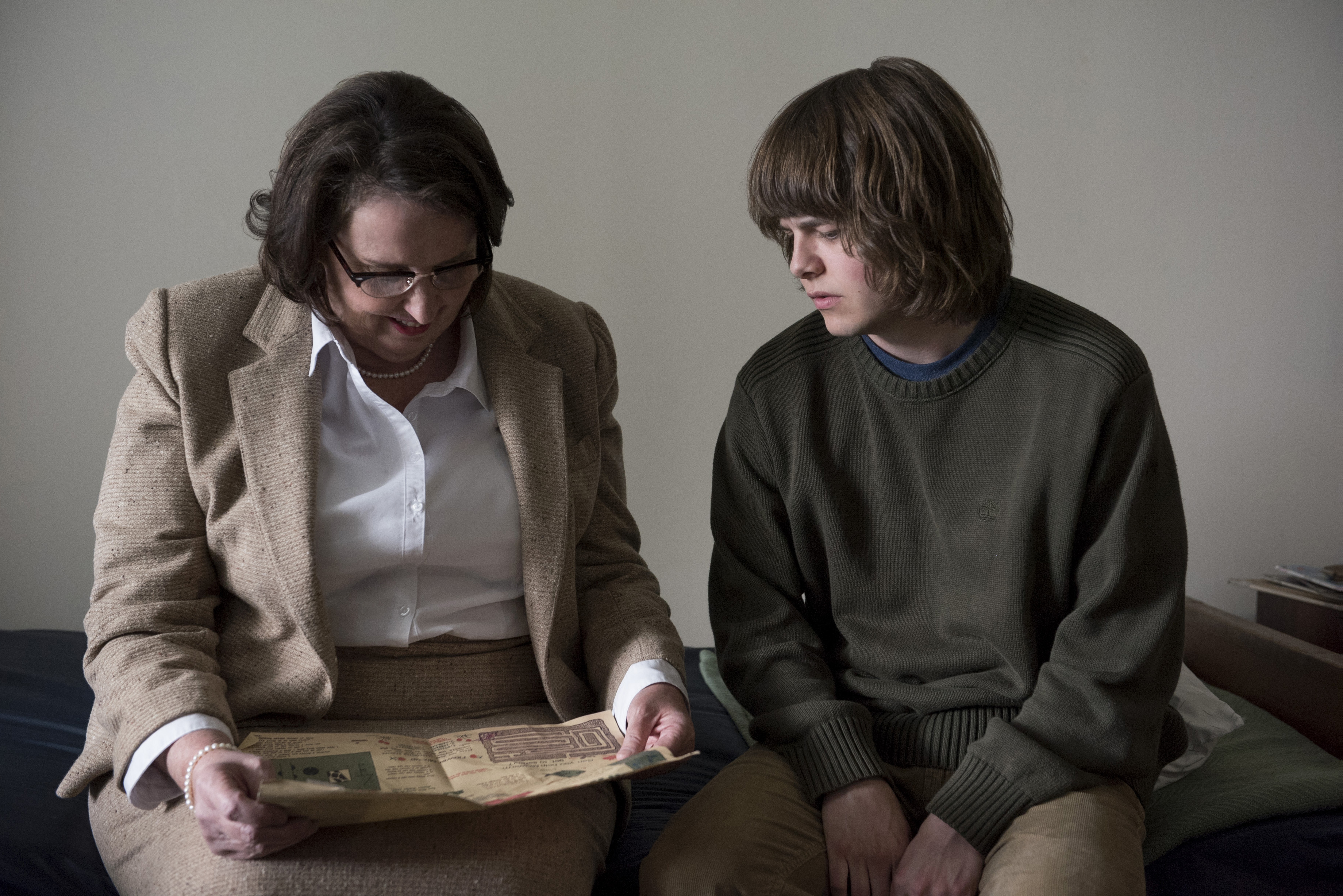 Phyllis Smith and Brendan Meyer in The OA (2016)