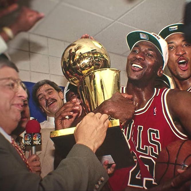 Michael Jordan, Phil Jackson, Scottie Pippen, and David Stern in The Last Dance (2020)