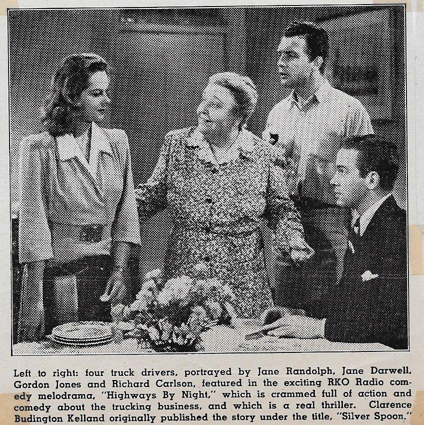 Jane Darwell, Richard Carlson, Gordon Jones, and Jane Randolph in Highways by Night (1942)