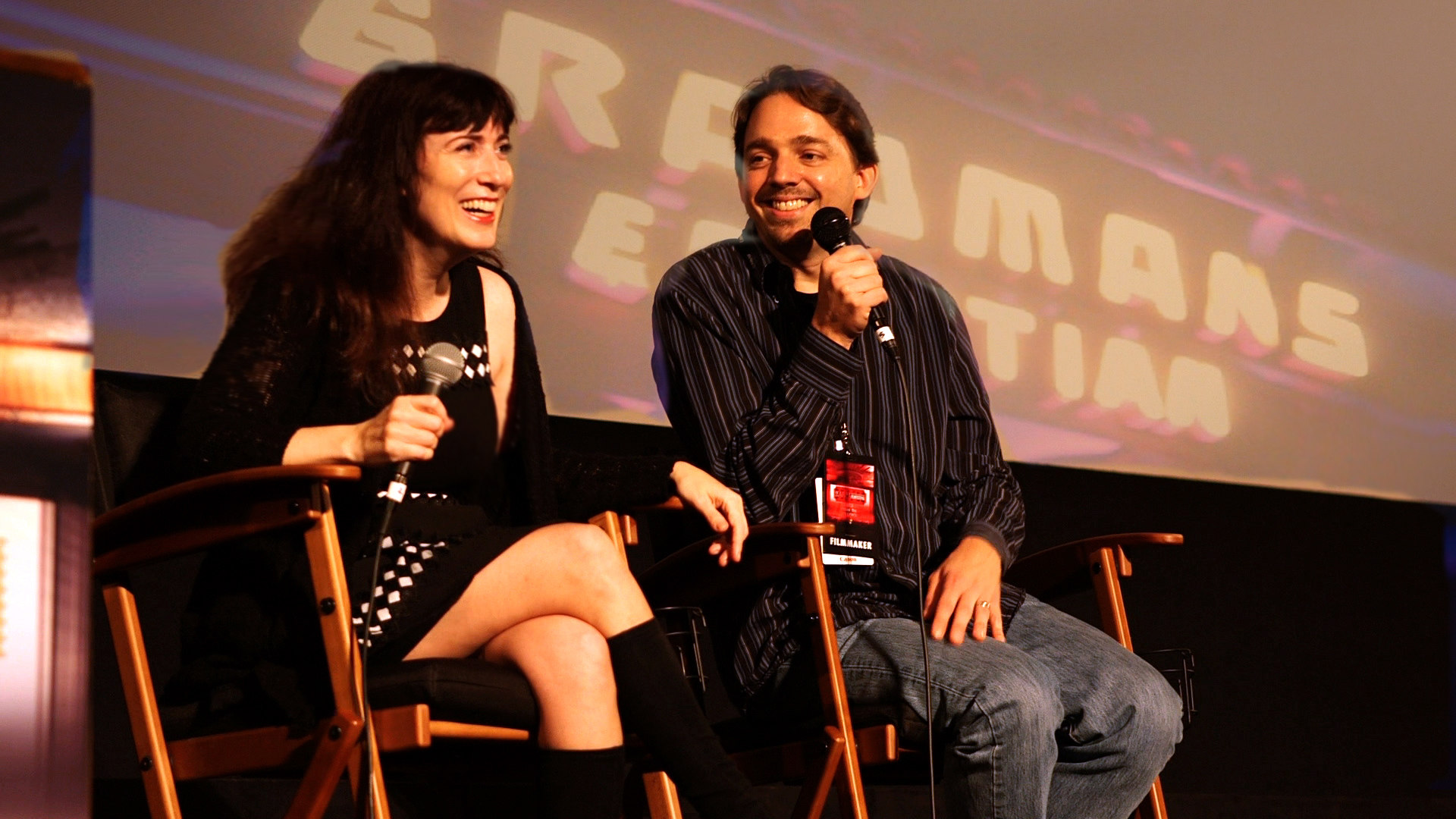 Director Cindy Baer and Cinematographer Matthew Irving of ODD BRODSKY at the Egyptian Theater, Hollywood.
