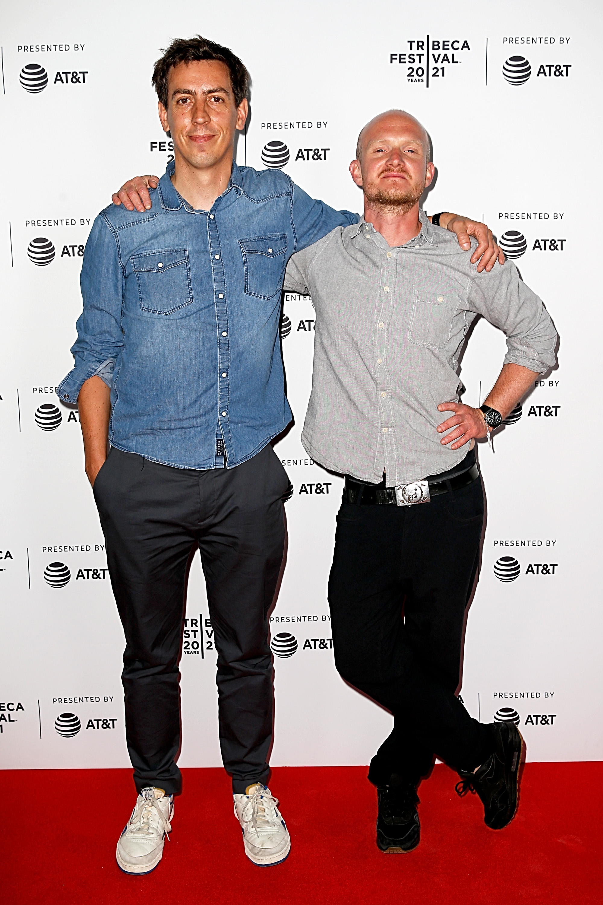 Laurent Richard and Seamus Haley at an event for Banksy Most Wanted (2020)